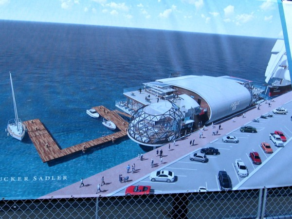Portside Pier will be just south of the Star of India and include a dock for visiting boats. Interesting that this graphic doesn't show Point Loma or any land across San Diego Bay.