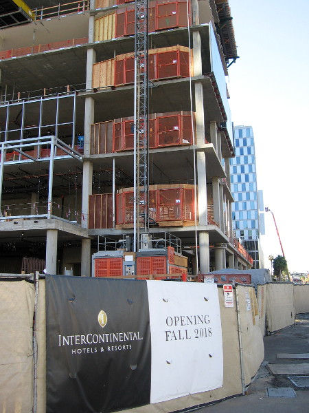 When finished, this InterContinental Hotel will provide 400 luxury waterfront rooms for visitors to San Diego.
