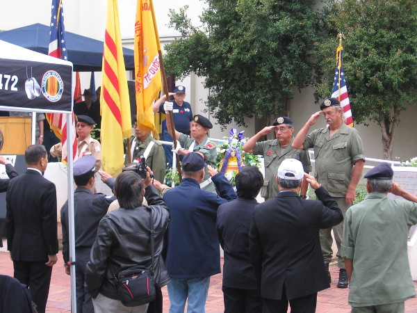 A dignified program commences. The Vietnam War is remembered, and those who fell during the conflict are honored.