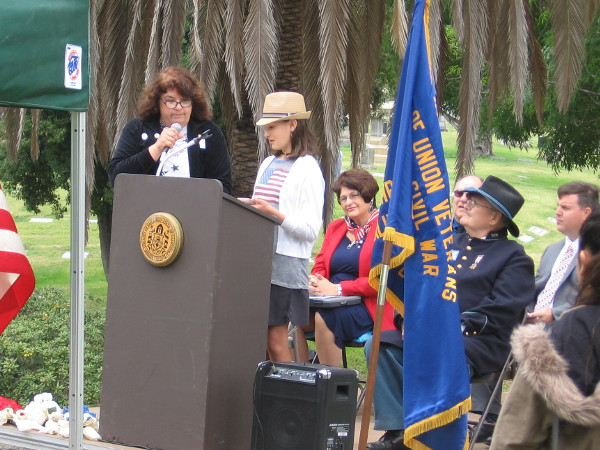 Holly Kirkman of John Muir School reads her inspirational, award-winning essay What Memorial Day Means to Me.