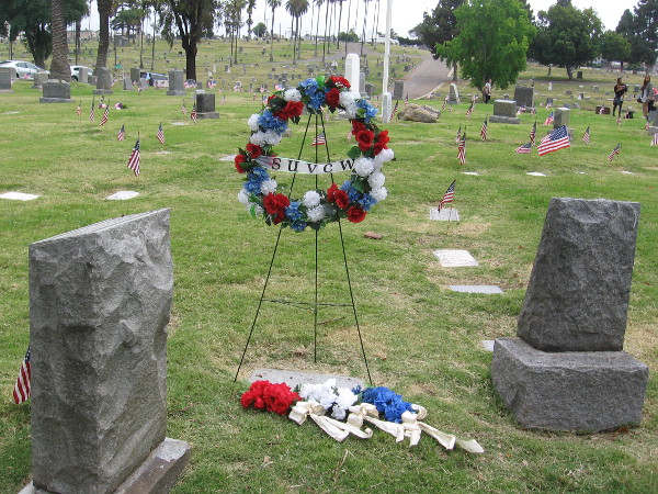 Remembering the fallen on Memorial Day, at Mount Hope Cemetery in San Diego.