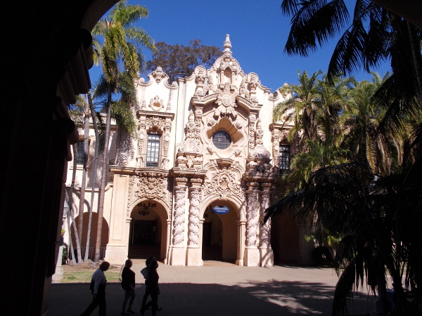 The facade of the Casa del Prado is just one of many wonders in Balboa Park.