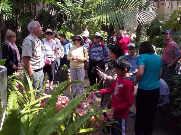 Ranger Kim talks about the historic Botanical Building and its rich collection of beautiful flowers and plants.