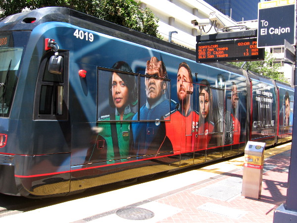 The very first trolley wrap for 2017 San Diego Comic-Con has appeared! It's Orville, a new funny science fiction show coming to FOX!