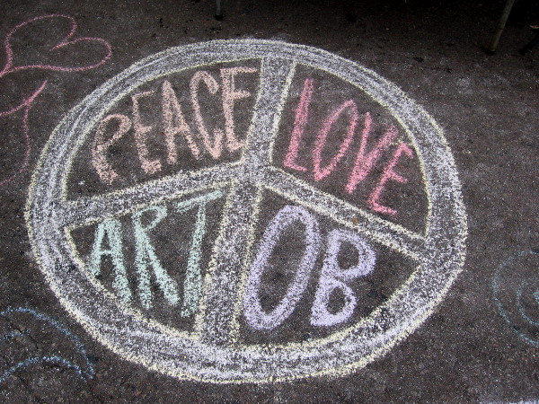 Peace. Love. Art. OB.