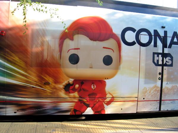 Conan O'Brien has become the fastest man alive--The Flash!