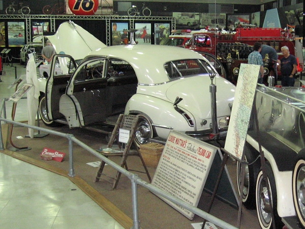 You can see Louie Mattar's fabulous car at the San Diego Automotive Museum in Balboa Park.