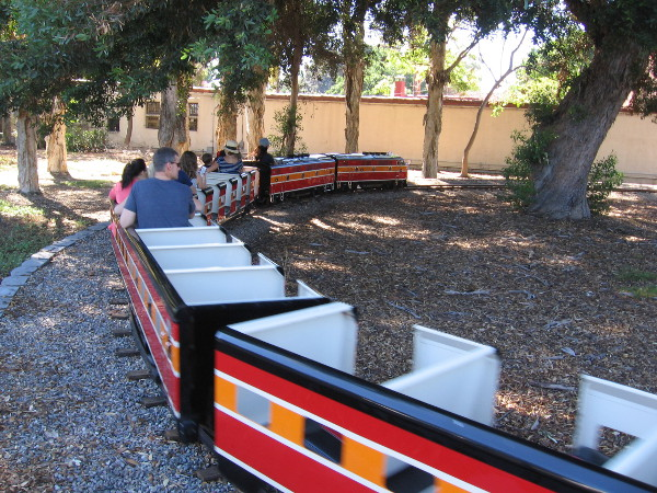 A short but happy excursion on the Balboa Park Miniature Railroad.