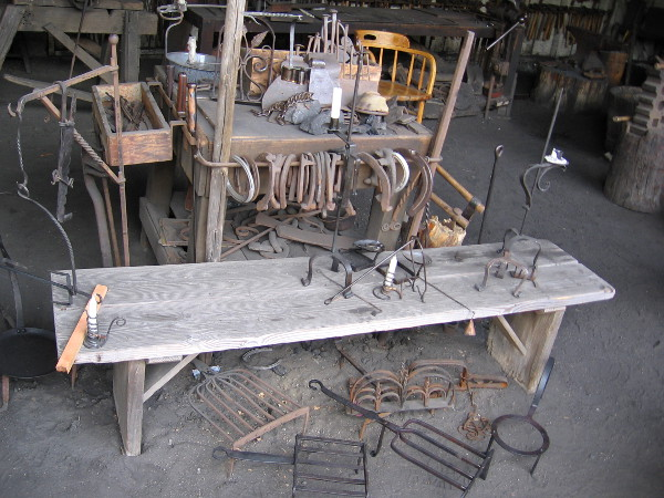 Products that were fashioned include grills, traps, candle holders, fish roasters, knives, shovels, chains, hinges, nails, cooking ladles and horseshoes.