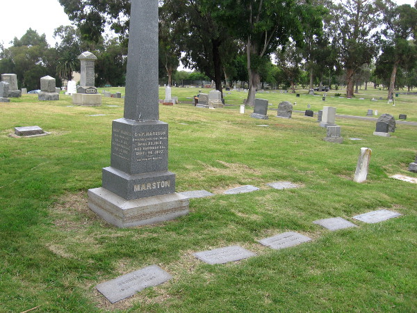 Graves of the Marston family.