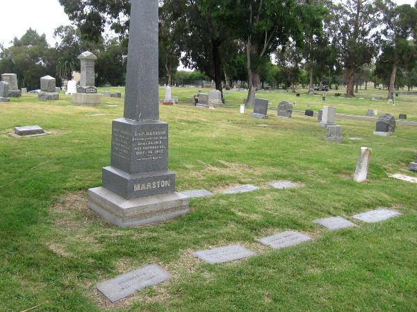 Graves of the Marston family.