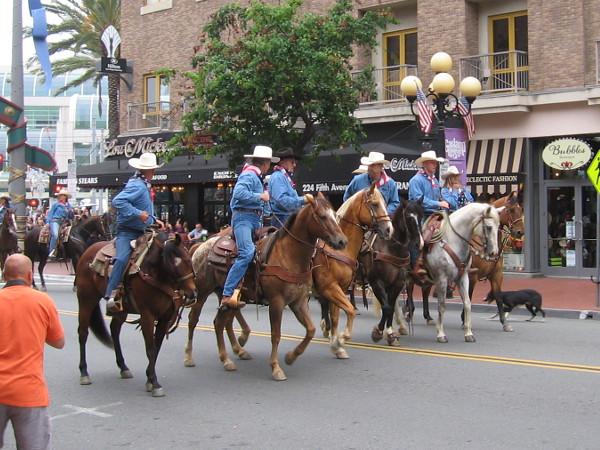 The Gaslamp hasn't seen so many cowboys on horseback in a good century and a half!