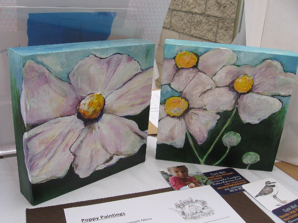 I believe these beautiful poppy paintings were part of the silent auction.
