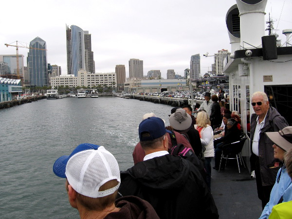 We pull away from the Embarcadero aboard the Admiral Hornblower, on a special harbor tour provided by the Port of San Diego.