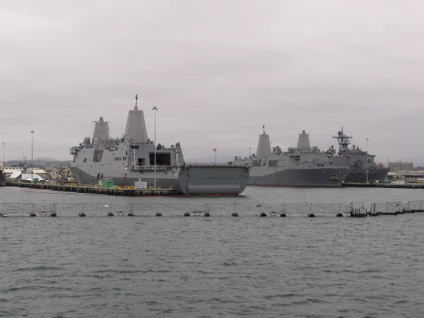 Now we are beginning to pass Naval Base San Diego--what some refer to as 32nd Street Naval Station. It is the principal homeport of the U. S. Navy's Pacific Fleet.