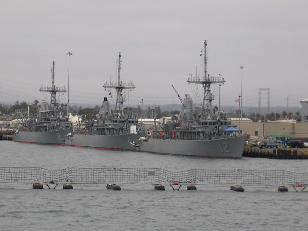 San Diego is home to these three Avenger-class mine countermeasures ships.