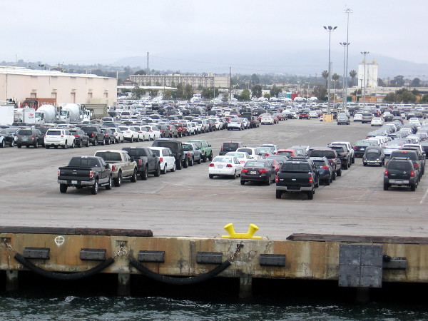 Vehicles of all type arrive here by huge roll-on/roll-off (RORO) ships, including trucks and tractors.