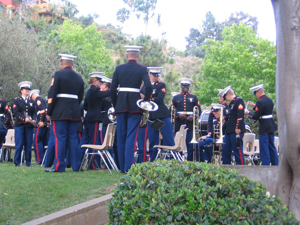 Young members of Marine Band San Diego after the ceremony.