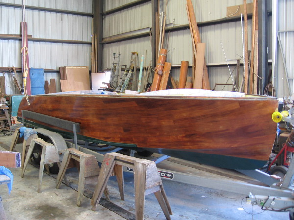 Another boat is being worked upon. The varnished wood is simply beautiful.