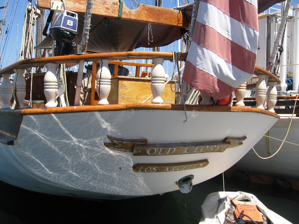 The stern of Old Glory.