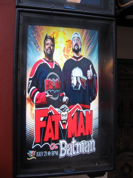 Fatman on Batman with Kevin Smith and Marc Bernardin will be showing during San Diego Comic-Con at the American Comedy Co. in the Gaslamp.