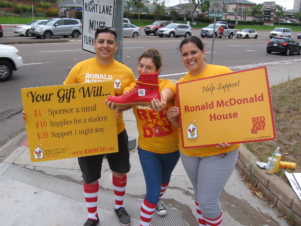 Help support Ronald McDonald House. Fill the red shoe with an online donation!