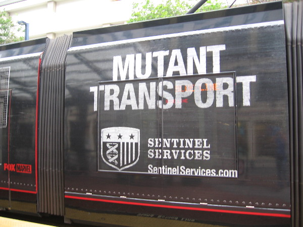 During San Diego Comic-Con, lots of mutants will be transported on this Sentinel Services vehicle. I wonder if it's made of plastic, in case Magneto comes along!