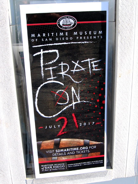 Maritime Museum of San Diego presents Pirate Con on July 21, 2017.