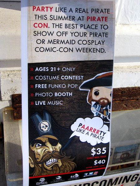 Lots of pirate and mermaid cosplay will be seen at Pirate Con in San Diego! Paarrrty like a pirate!