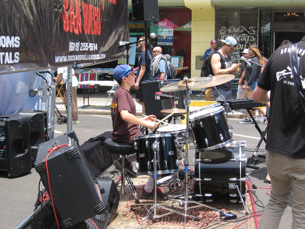 Kids were learning how to make music, and were entertaining the crowd like rock 'n roll superstars!