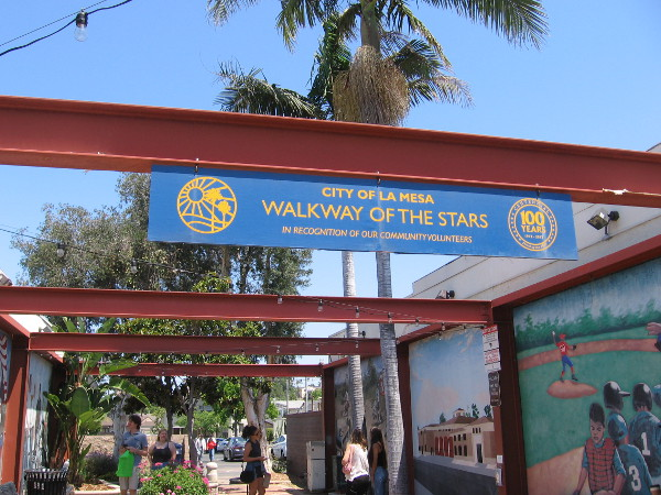 City of La Mesa Walkway of the Stars, in recognition of our community volunteers.