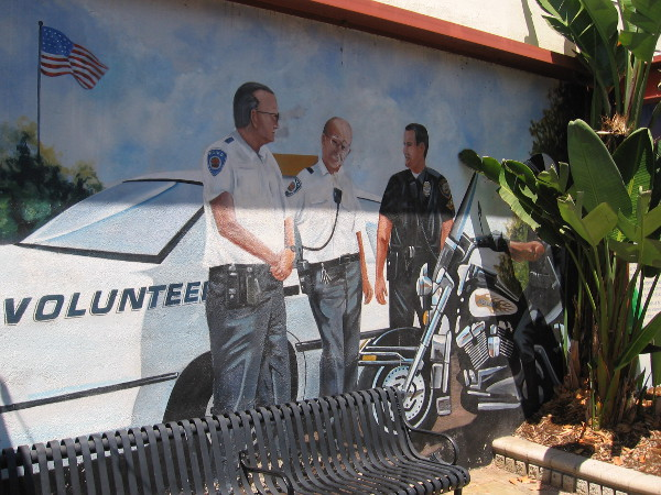 One mural pays tribute to volunteer law enforcement.