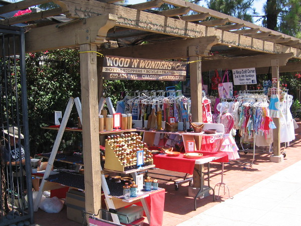 The La Mesa Craft Corner on a quiet Sunday morning.