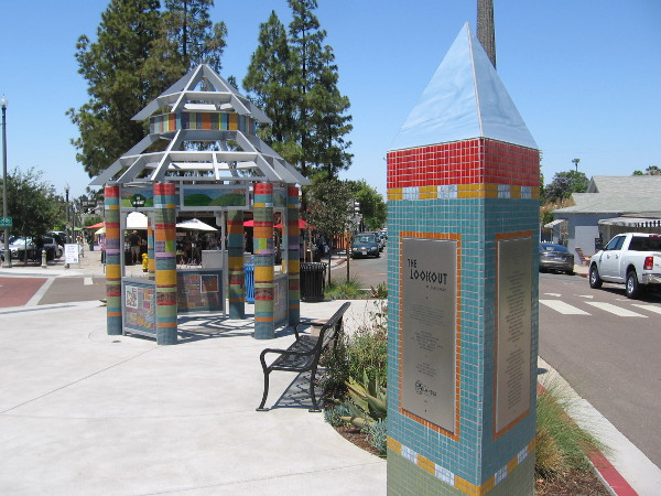 The Lookout is public art project in Legacy Park, the small triangle where La Mesa Boulevard, 4th Street and Allison Avenue meet.
