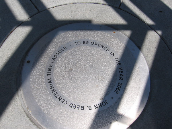 At the center of The Lookout is the John B. Reed Centennial Time Capsule, to be opened in 2062.