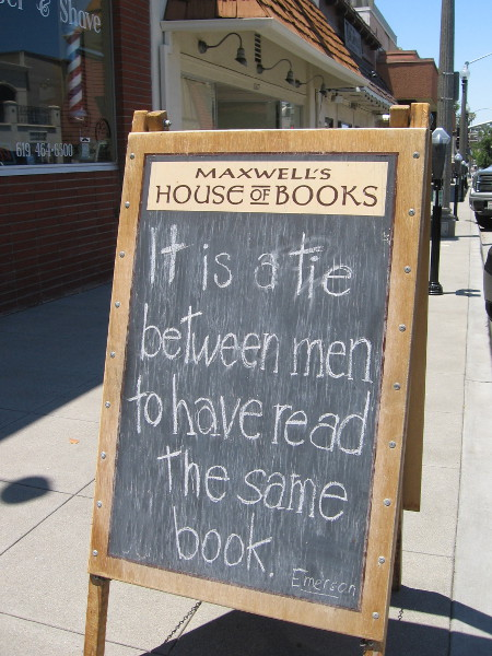It is a tie between men to have read the same book. Ralph Waldo Emerson