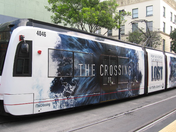 A fourth trolley wrap for 2017 San Diego Comic-Con promotes The Crossing, a new television series on ABC.