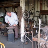 A look inside the Blacksmith Shop in Old Town.