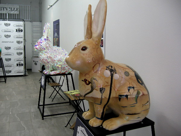 Rabbits have been painted to commemorate the history of San Diego's Gaslamp Quarter, which once was nicknamed Rabbitville.