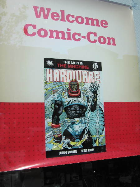 Downtown Ace Hardware has Hardware in their window for Comic-Con!