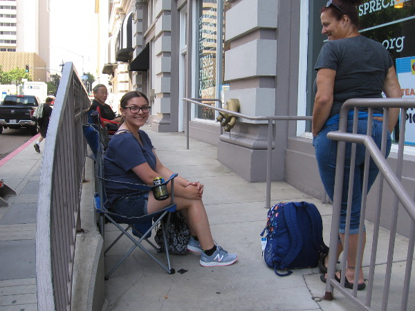 This super fan is the very first in line for the Conan O'Brien show at 2017 San Diego Comic-Con!