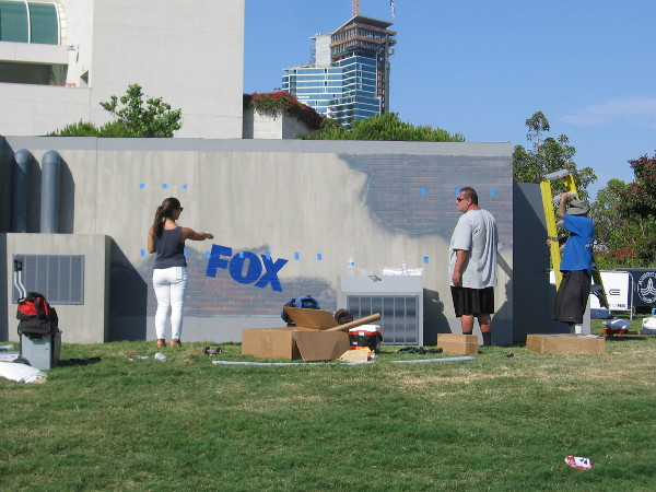 A building is being built to promote FOX's new television series Ghosted.