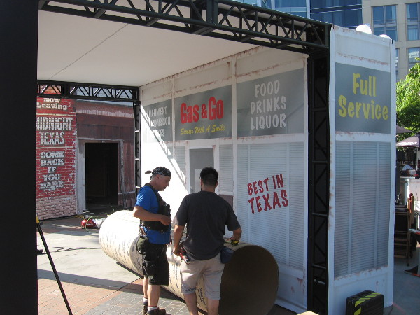 More work going on at the NBC Midnight, Texas outdoor site.