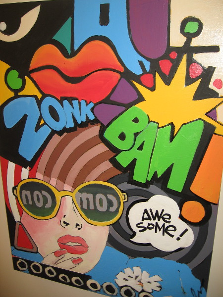 Local artist Suzka has created lots of colorful artwork that includes elements from San Diego Comic-Con and comic books.