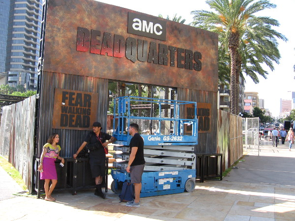 The entrance to AMC's Deadquarters is almost ready to accept new victims.