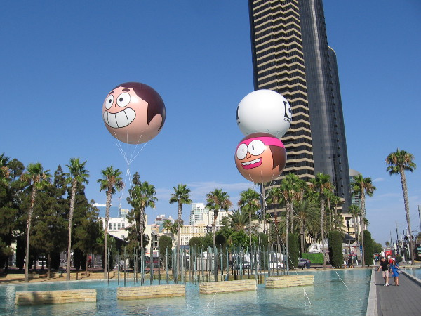 Guys were inflating character balloons that promote the Cartoon Network. I was told this year there will be 19 balloons. Wow!