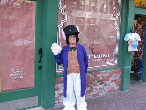 A nice lady representing the Gaslamp Quarter told me their Rabbitville exhibit will be open tomorrow.