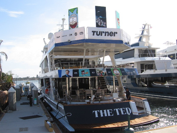The Turner yacht is all dressed up and ready to go when Comic-Con opens tomorrow.