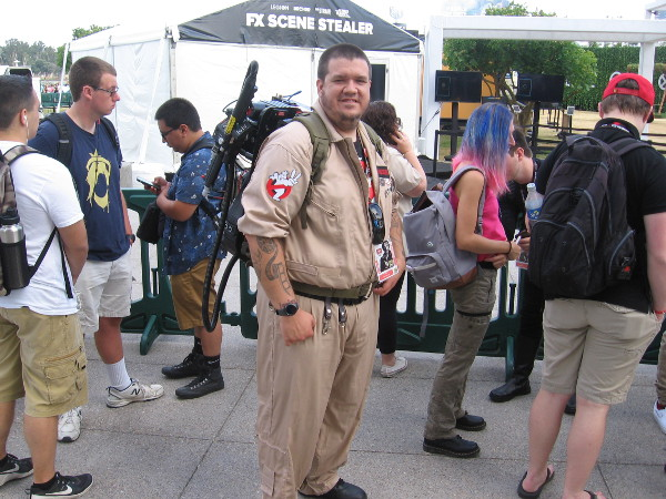 One of several Ghostbuster cosplays that I noticed.