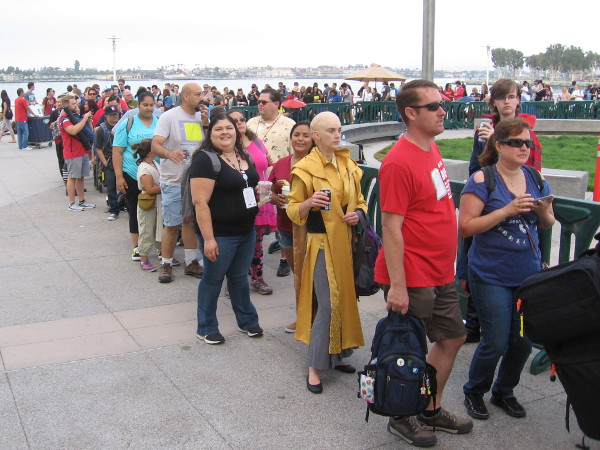 The huge line to enter the San Diego Convention Center boggled my mind.